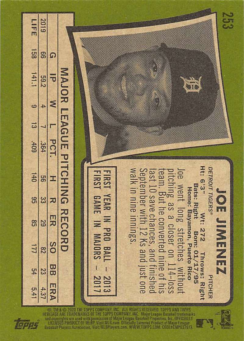 thumbnail 7 - 2020 Topps Heritage MLB Baseball Trading Cards Pick From List 251-500 W/Rookies