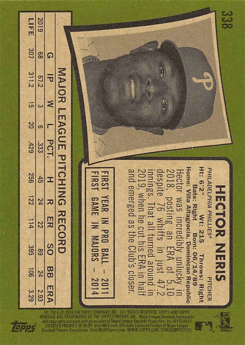 thumbnail 175 - 2020 Topps Heritage MLB Baseball Trading Cards Pick From List 251-500 W/Rookies