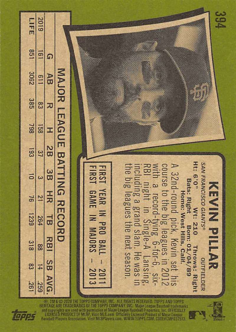 thumbnail 283 - 2020 Topps Heritage MLB Baseball Trading Cards Pick From List 251-500 W/Rookies