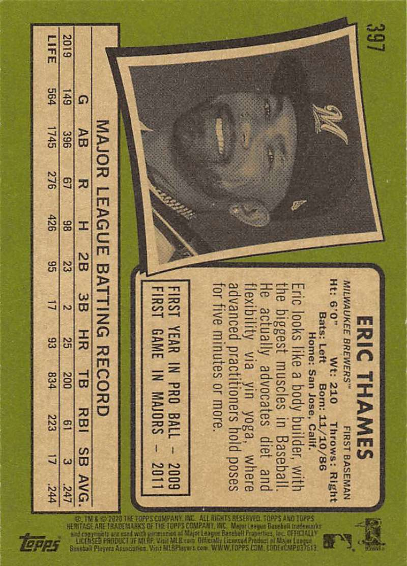 thumbnail 287 - 2020 Topps Heritage MLB Baseball Trading Cards Pick From List 251-500 W/Rookies