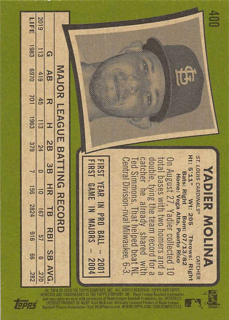 thumbnail 293 - 2020 Topps Heritage MLB Baseball Trading Cards Pick From List 251-500 W/Rookies