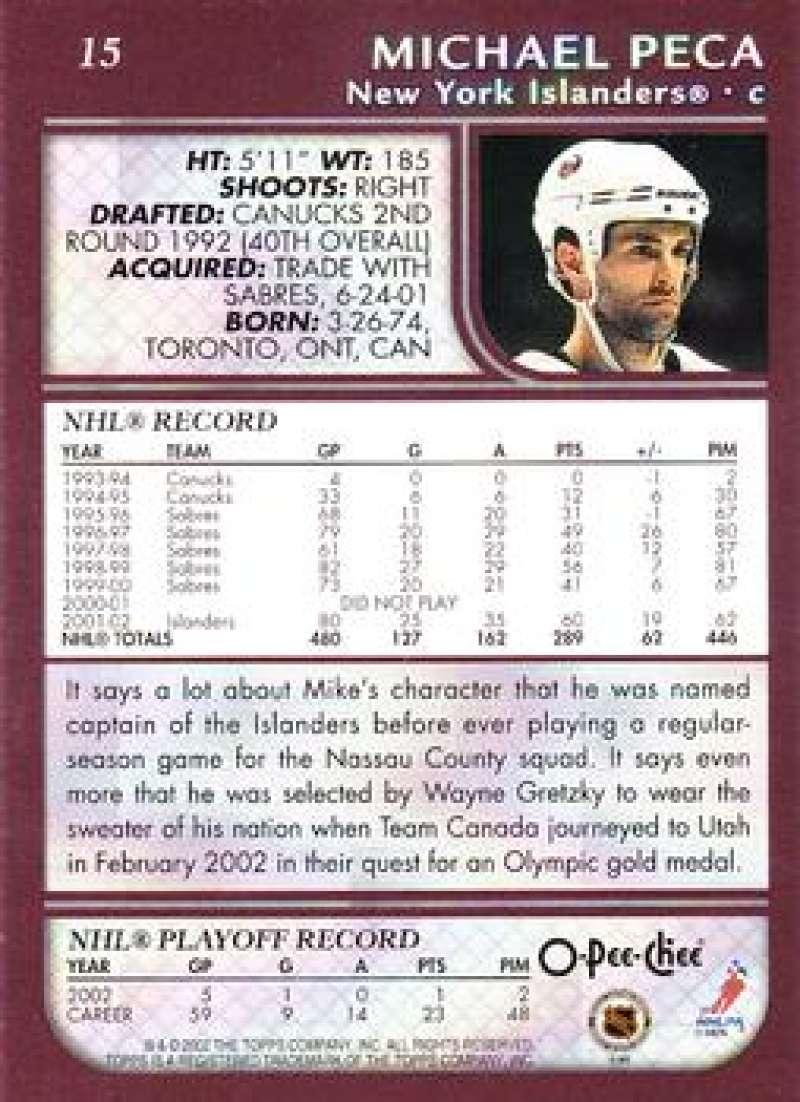 2002-03-O-Pee-Chee-02-03-OPC-NHL-Hockey-Trading-Cards-Pick-From-List-1-200 Indexbild 28