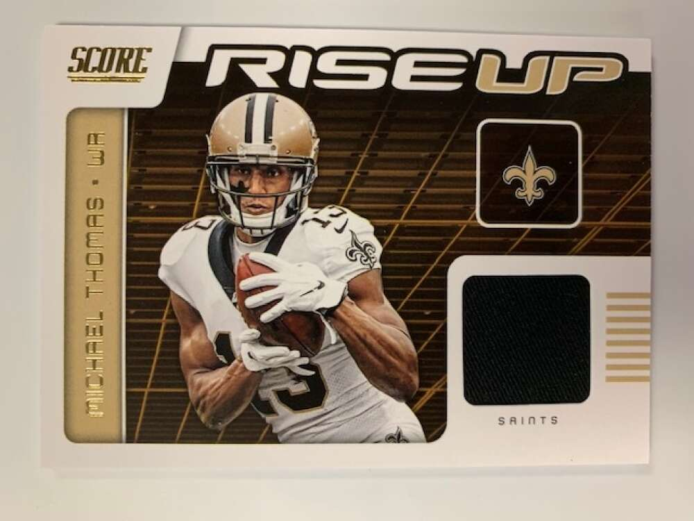 2020 Score Rise Up Relic Jersey Football #3 Michael Thomas New Orleans Saints