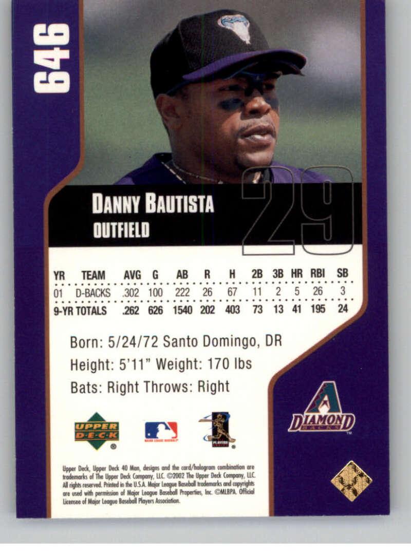 thumbnail 8 - 2002 Upper Deck 40-Man Electric MLB Baseball Cards Pick From List 601-800