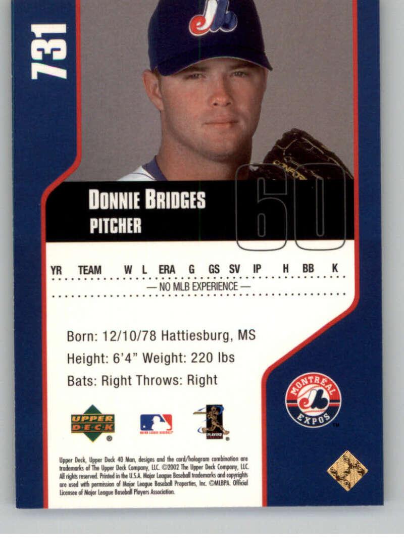 thumbnail 24 - 2002 Upper Deck 40-Man Electric MLB Baseball Cards Pick From List 601-800