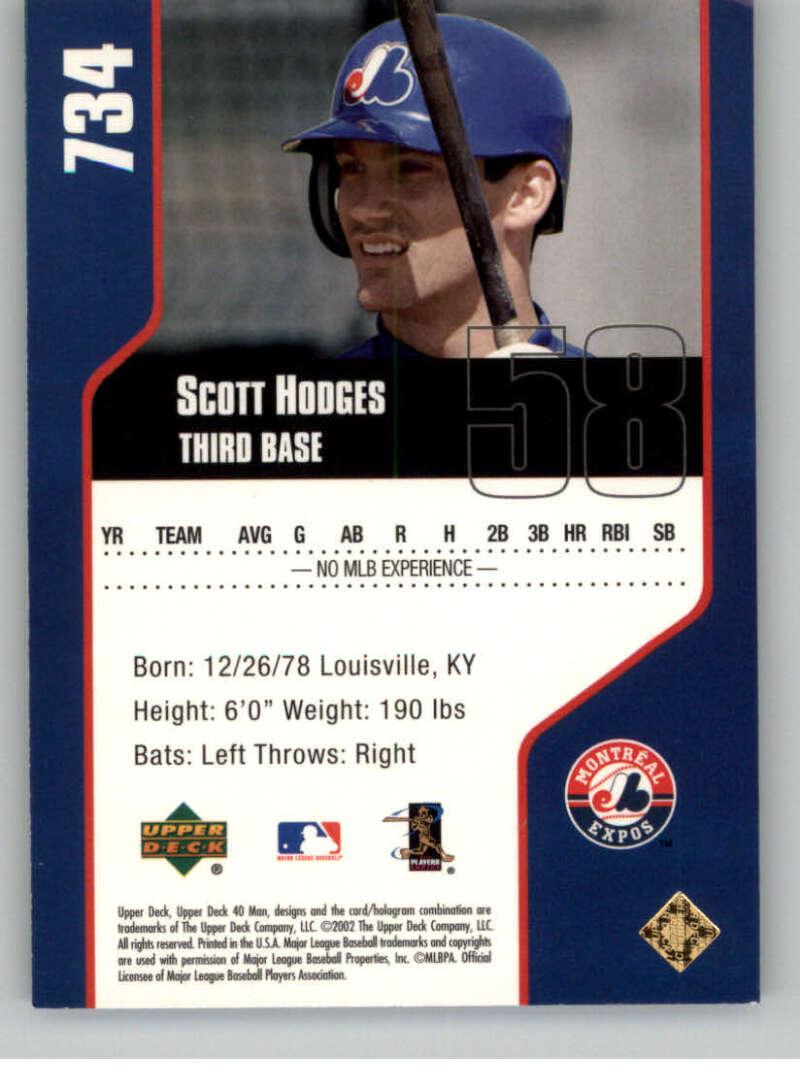 thumbnail 26 - 2002 Upper Deck 40-Man Electric MLB Baseball Cards Pick From List 601-800