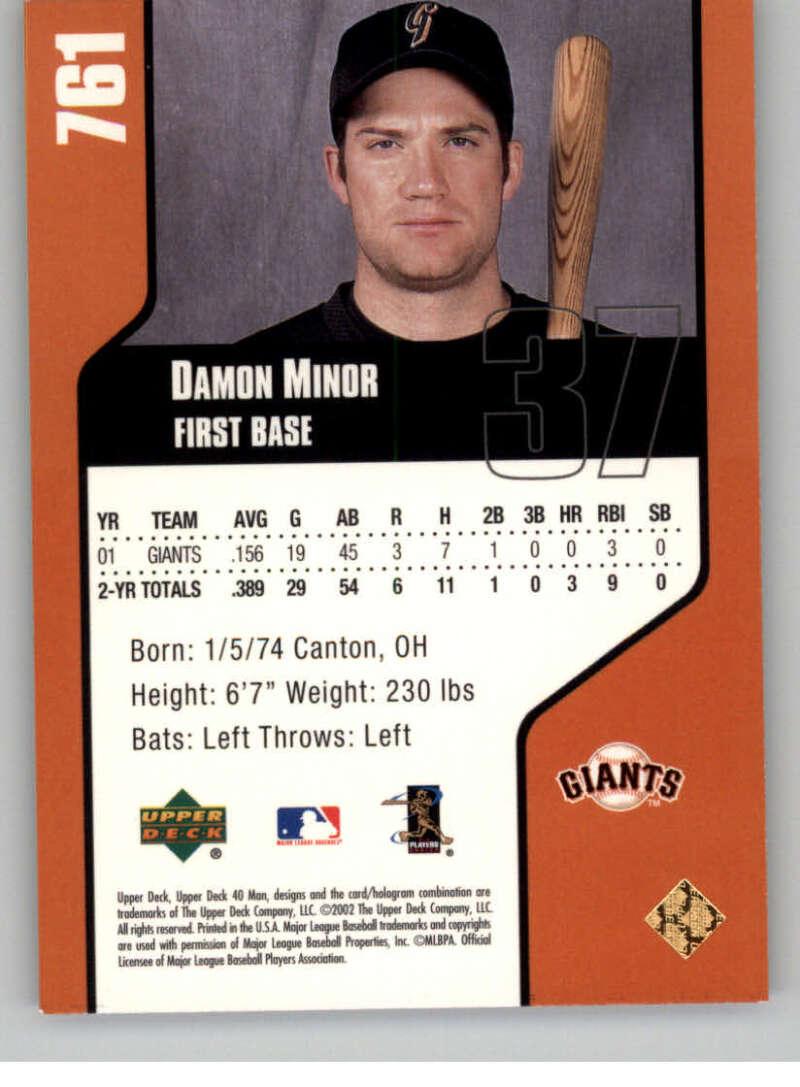 thumbnail 30 - 2002 Upper Deck 40-Man Electric MLB Baseball Cards Pick From List 601-800