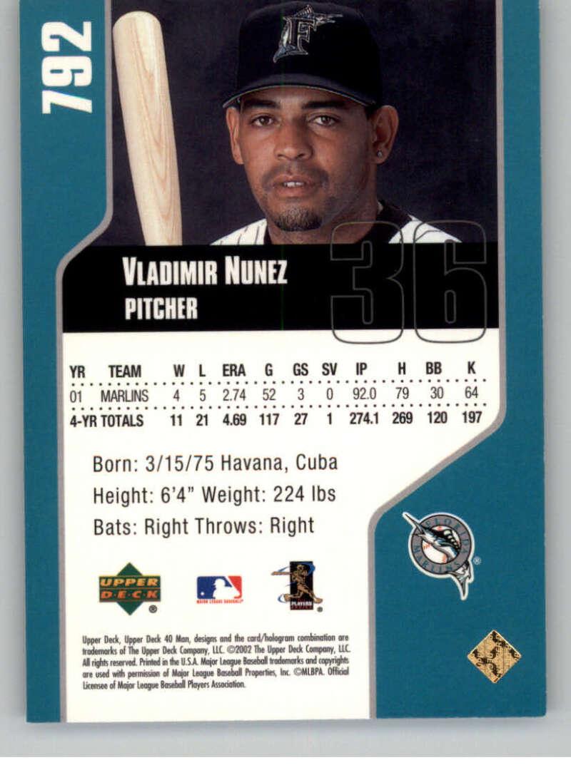 thumbnail 38 - 2002 Upper Deck 40-Man Electric MLB Baseball Cards Pick From List 601-800