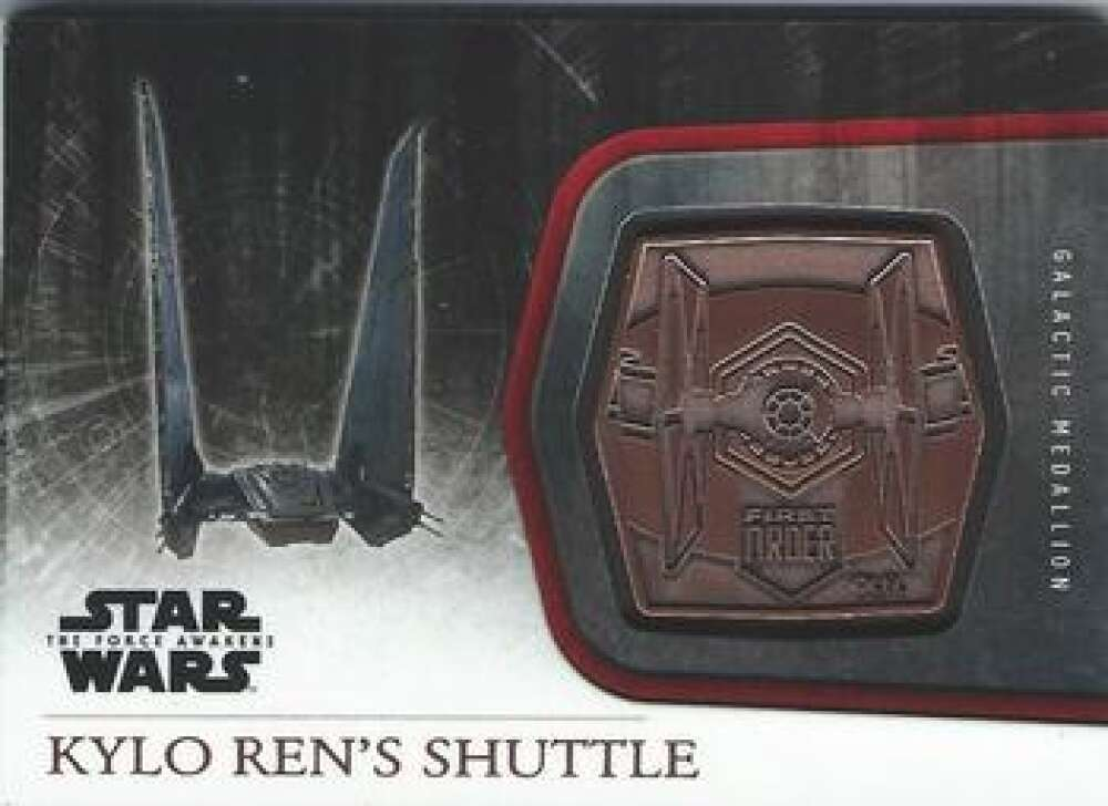 2015 Topps Star Wars The Force Awakens Medallions NonSport #M-50 Kylo Ren's Shuttle
