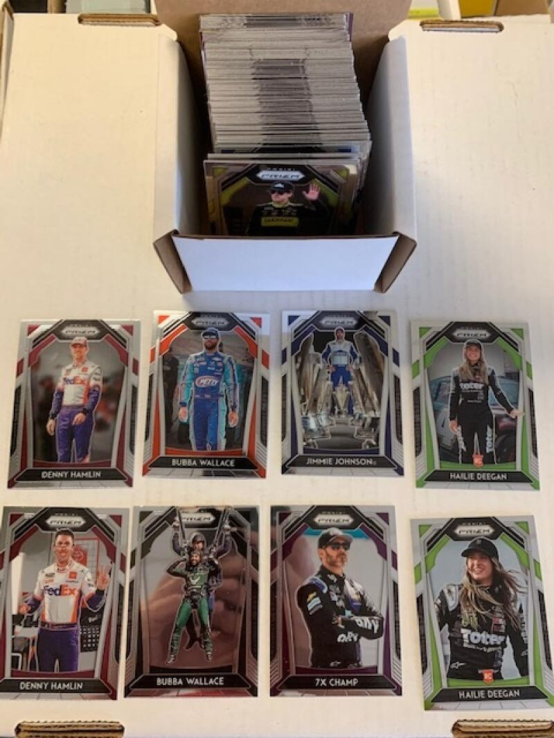 2020 Panini Prizm Racing (Nascar) Complete Hand Collated 100 Card Trading Card Set With 10 Photo Variants