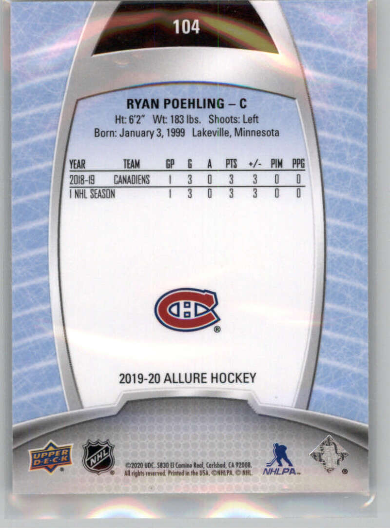 miniature 198 - 2019-20-Upper-Deck-Allure-19-20-UD-NHL-Hockey-Trading-Cards-Pick-From-List
