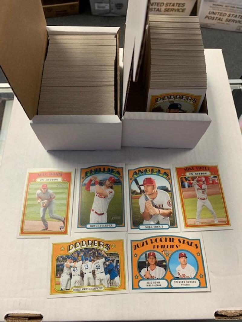 2021 Topps Heritage Complete Baseball Set of 399 Cards NO SHORT PRINTS