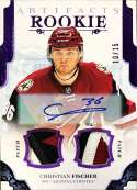 2017-18 Upper Deck Artifacts Autographed Material Purple #173 Christian Fischer NM-MT MEM Auto /15