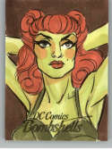 2017 Cryptozoic DC Comics Bombshells Sketch Artists 1/1 #NNO Elvis Moura (Poison Ivy)
