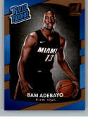 2017-18 Donruss #187 Bam Adebayo RC Rookie Heat Rated Rookie