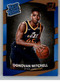 2017-18 Donruss #188 Donovan Mitchell RC Rookie Jazz Rated Rookie