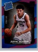 2017-18 Donruss Press Proof Purple #158 Justin Jackson Rated Rookie NM-MT /199