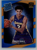 2017-18 Donruss Holo Orange Laser #199 Lonzo Ball Rated Rookie NM-MT