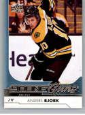 2017-18 Upper Deck #203 Anders Bjork RC Rookie Bruins
