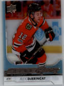 2017-18 Upper Deck Clear Cut #221 Alex DeBrincat Blackhawks