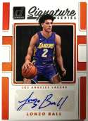 2017-18 Donruss Signature Series #43 Lonzo Ball NM-MT Auto