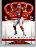 2017 Panini Crown Royale #84 Patrick Mahomes II NM-MT RC Rookie