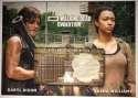 2017 Topps Walking Dead Evolution Dual Relics #DR-DS Daryl Dixon/Sasha Williams MEM SER/10