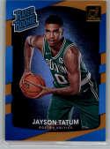 2017-18 Donruss Holo Orange Laser #198 Jayson Tatum Rated Rookie NM-MT