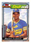 1992 Topps Gold Winners #156 Manny Ramirez NM-MT RC Rookie Card