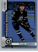 2017-18 O-Pee-Chee Rainbow Foil #644 Brendan Lemieux Winn Jets Rookie Year RC From Upper Deck Series Two Packs