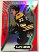 2017-18 Upper Deck Synergy Red Bounty #98 Charlie McAvoy NM-MT