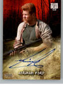 2018 Topps Walking Dead Road to Alexandria Autographs Blood Red #NNO Michael Cudlitz Auto SER/1 Abraham Ford Walking Dea