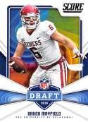 2018 Score NFL Draft #17 Baker Mayfield Oklahoma Sooners Football Card