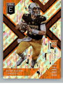2018 Panini Elite Draft Picks Aspirations Orange #103 Josh Allen Wyoming Cowboys Rookie Parallel Football Card