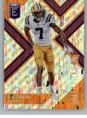 2018 Panini Elite Draft Picks Variation Aspirations Orange #131 D.J. Chark LSU Tigers Rookie Parallel Football Card