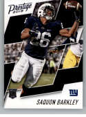 2018 Panini Prestige NFL #261 Saquon Barkley New York Giants Rookie Card RC Panini Football Card