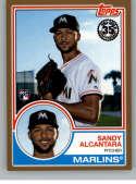 2018 Topps Series 2 1983 Topps Rookies Gold #83-7 Sandy Alcantara SER/50 Miami Marlins