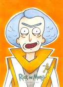 2018 Cryptozoic Rick and Morty Season 1 Sketch Artist Trading Cards #NNO Caleb King (Council of Ricks) 1/1