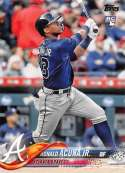 2018 Topps #698B Ronald Acuna Jr. RC Atlanta Braves Factory Set Variation Rookie Baseball Card