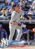 2018 Topps #699B Gleyber Torres RC New York Yankees Factory Set Variation Rookie Baseball Card