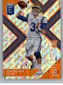 2018 Panini Elite Draft Picks Variation Aspirations Orange #102 Josh Rosen UCLA Bruins Rookie Parallel Football Card
