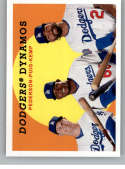 2018 Topps Archives Baseball #309 Joc Pederson/Matt Kemp/Yasiel Puig Los Angeles Dodgers Rare Short Print SP