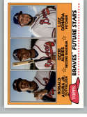 2018 Topps Archives Baseball 1981 Topps Future Stars Trios #FS-BRA Ozzie Albies/Ronald Acuna Jr./Luiz Gohara Atlanta Bra