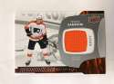 2017-18 Upper Deck Rookie Materials #RM-TS Travis Sanheim Orange Jersey/Relic Philadelphia Flyers