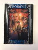 2018 Topps Star Wars Galactic Files Manufactured Movie Poster Patches Blue #NNO Qui-Gon Jinn SER/99 The Phantom Menace