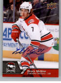 2014-15 Upper Deck AHL Autographs #139 Brock McGinn NM-MT Auto Autograph Charlotte Checkers