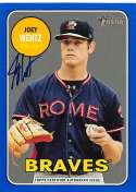 2018 Topps Heritage Minor League Baseball Real One Autographs Blue #ROA-JW Joey Wentz Auto Autograph SER/99 Rome Braves  Official MILB Trading Card