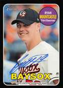 2018 Topps Heritage Minor League Baseball Real One Autographs Black #ROA-RM Ryan Mountcastle Auto Autograph SER/50 Bowie Official MILB Trading Card