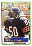 1983 Topps Official NFL Football Card #38 Mike Singletary NM RC Rookie Card Chicago Bears  Football Card