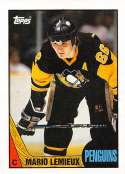 1987-88 Topps Hockey Card #15 Mario Lemieux Pittsburgh Penguins  Official NHL Trading Card